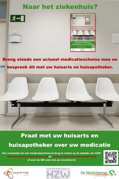 Affiche opname en ontslag uit het ziekenhuis